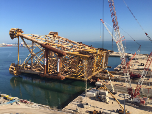 Skidway System launching oil rig